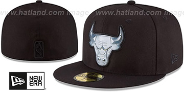 Bulls 'IRIDESCENT HOLOGRAM' Black Fitted Hat by New Era