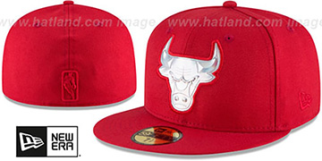 Bulls 'IRIDESCENT HOLOGRAM' Red Fitted Hat by New Era