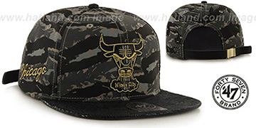 Bulls 'JULIGUNK STRAPBACK' Grey-Camo Hat by Twins 47 Brand