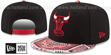 Bulls KALEIDOVIZE SNAPBACK Black Hat by New Era