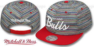 Bulls KNIT-WEAVE SNAPBACK Multi-Red Hat by Mitchell and Ness