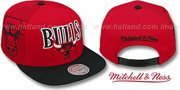 Bulls 'LASER-STITCH SNAPBACK' Red-Black Hat by Mitchell & Ness