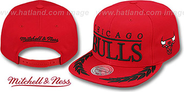 Bulls 'LAUREL SNAPBACK' Red Hat by Mitchell and Ness