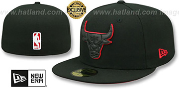 Bulls 'LEATHER POP' Black Fitted Hat by New Era