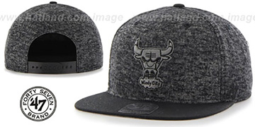 Bulls 'LEDGEBROOK SNAPBACK' Black Hat by Twins 47 Brand