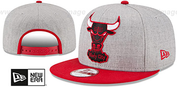 Bulls 'LOGO GRAND SNAPBACK' Grey-Red Hat by New Era