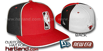 Bulls LOGOMAN-2 Red-Black-White Fitted Hat by New Era