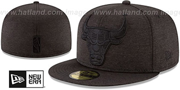 Bulls MEGATONE Black Shadow Tech Fitted Hat by New Era