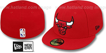 Bulls 'NBA-CHASE' Red Fitted Hat by New Era