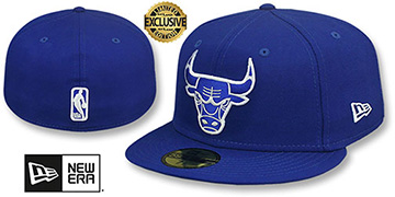 Bulls NBA TEAM-BASIC Royal-White Fitted Hat by New Era