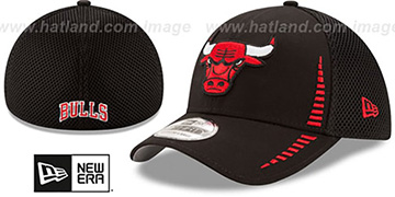 Bulls 'NEO SPEED MESH-BACK' Black Flex Hat by New Era