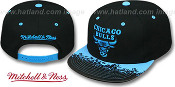 Bulls 'NEON-LAVA SNAPBACK' Black-Blue Hat by Mitchell and Ness