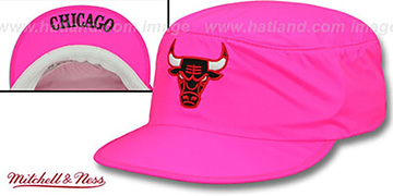 Bulls NEON PAINTER Pink Hat by Mitchell and Ness