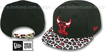 Bulls 'OSTRICH-LEOPARD STRAPBACK' Hat by New Era