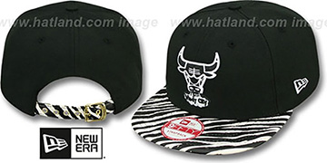 Bulls OSTRICH-ZEBRA STRAPBACK Hat by New Era