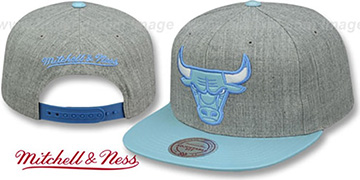 Bulls PATENT 'POWDER SNAPBACK' Hat Mitchell and Ness