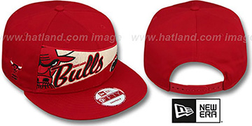 Bulls 'PENNANT SNAPBACK' Red Hat by New Era