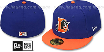 Bulls PERFORMANCE ROAD Royal-Orange Fitted Hat by New Era
