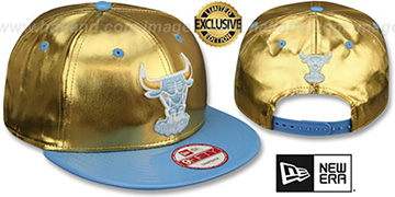 Bulls POSH SNAPBACK Gold-Sky Hat by New Era