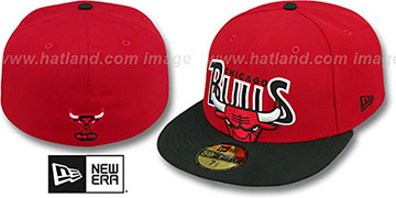 Bulls 'PROFILIN' Red-Black Fitted Hat by New Era
