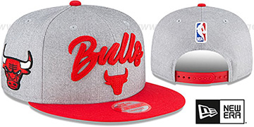 Bulls 'ROPE STITCH DRAFT SNAPBACK' Grey-Red Hat by New Era