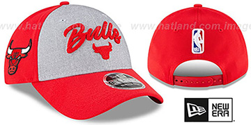 Bulls ROPE STITCH DRAFT STRETCH SNAPBACK Grey-Red Hat by New Era