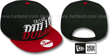 Bulls 'SAILTIP SNAPBACK' Black-Red Hat by New Era