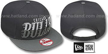 Bulls SAILTIP SNAPBACK Charcoal-Grey Hat by New Era