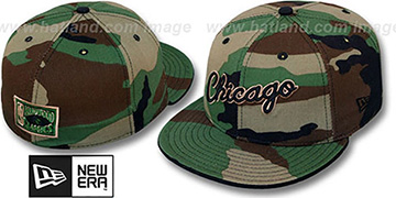 Bulls SCRIPT ARMY CAMO Fitted Hat by New Era