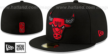Bulls 'SHIMMER-XL' Black Fitted Hat by New Era