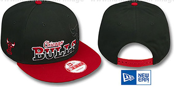 Bulls SPLIT-BLOCK SNAPBACK Black-Red Hat by New Era