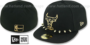 Bulls 'STUD-POP' Black Fitted Hat by New Era