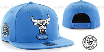 Bulls SURE-SHOT SNAPBACK Blue Hat by Twins 47 Brand