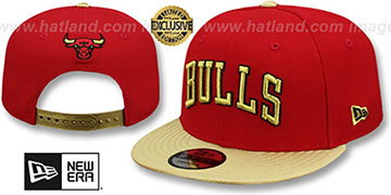 Bulls SWINGMAN SNAPBACK Red-Gold Hat by New Era
