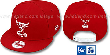 Bulls 'TEAM-BASIC SNAPBACK' Red-White Hat by New Era