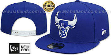 Bulls TEAM-BASIC SNAPBACK Royal-White Hat by New Era
