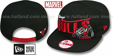 Bulls TEAM-HERO SNAPBACK Black Hat by New Era