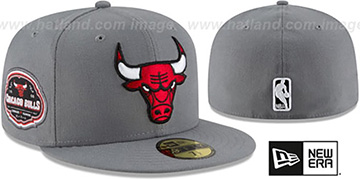 Bulls 'TEAM-SUPERB' Grey Fitted Hat by New Era