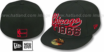 Bulls 'THE BEGINNING' Black Fitted Hat by New Era