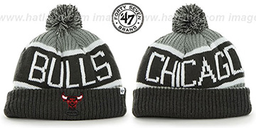 Bulls THE-CALGARY Grey-Grey Knit Beanie Hat by Twins 47 Brand
