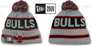 Bulls 'THE-COACH' Grey-Black Knit Beanie Hat by New Era