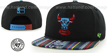 Bulls 'THE-DUDE SNAPBACK' Black-Blue Hat by Twins 47 Brand