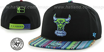 Bulls THE-DUDE SNAPBACK Black-Green Hat by Twins 47 Brand