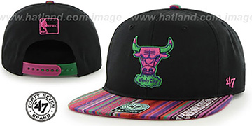 Bulls THE-DUDE SNAPBACK Black-Pink Hat by Twins 47 Brand