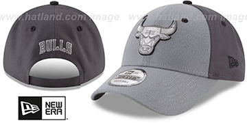 Bulls THE-LEAGUE GREY-POP STRAPBACK Hat by New Era