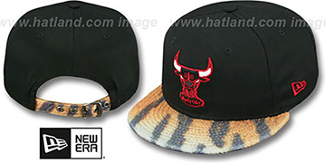 Bulls TIGER ANIMALISTIC-FUR VIZA STRAPBACK Hat by New Era