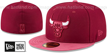 Bulls TONAL-CHOICE Burgundy Fitted Hat by New Era
