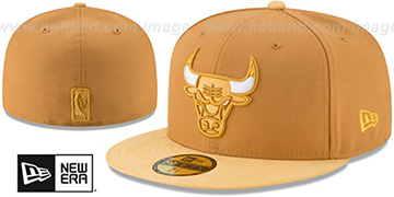 Bulls TONAL-CHOICE Panama Tan Fitted Hat by New Era