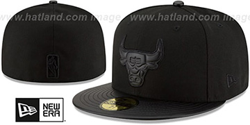 Bulls 'TONAL TRICK' Black Fitted Hat by New Era