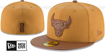 Bulls 'TONAL TRICK' Wheat-Brown Fitted Hat by New Era